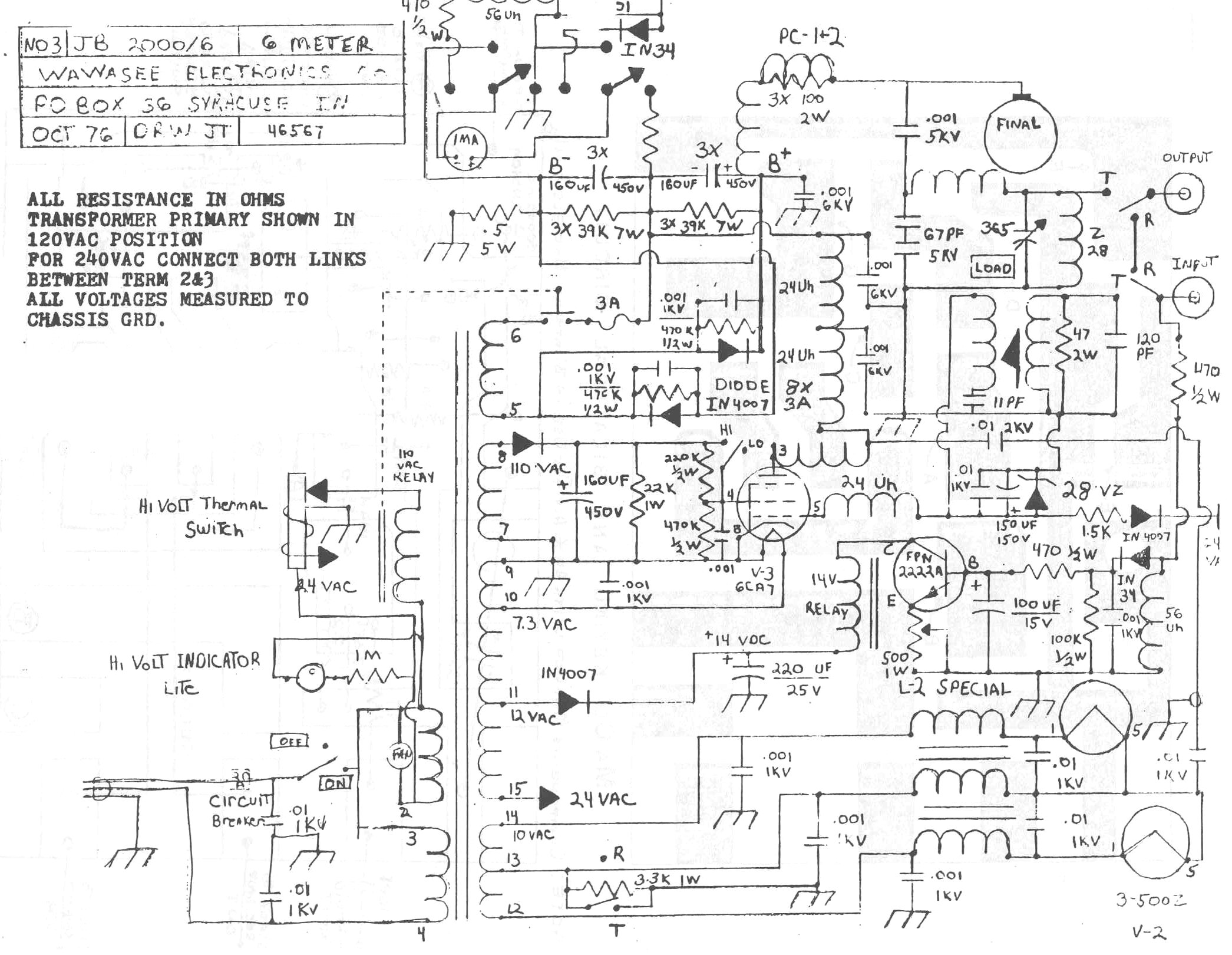Simple Linear Amplifier Schematics Electrical Wiring Diagrams Home Radio Bly94 100w Rf Power Jb 2000 Circuit Connection Diagram U2022 Class A