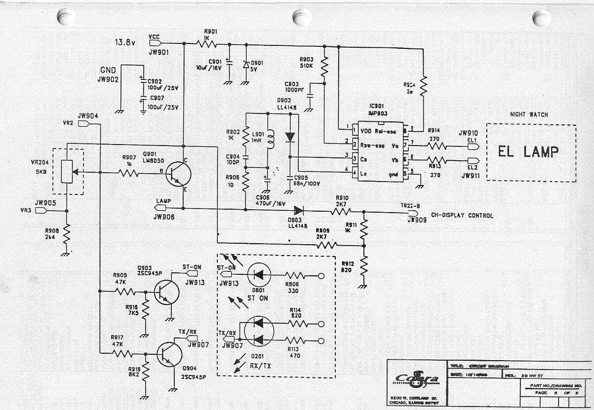 Tobans Cb Links Co 4 Pin Microphone Wiring Cobra 29 Nw Schematic