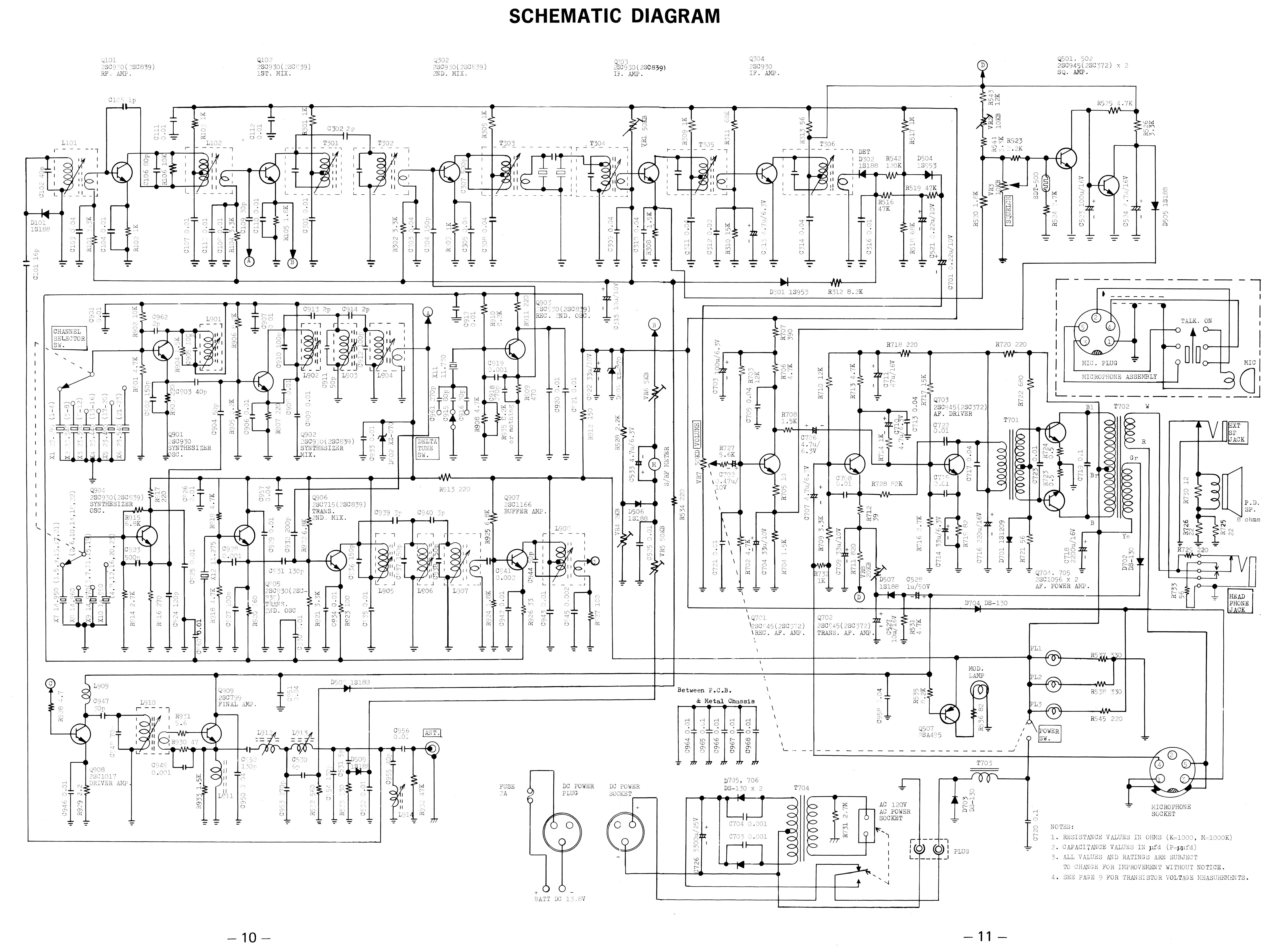 realistic trc 30 a (21 143) navaho Schematic Diagram Schematic Diagram #33 schematic diagrams