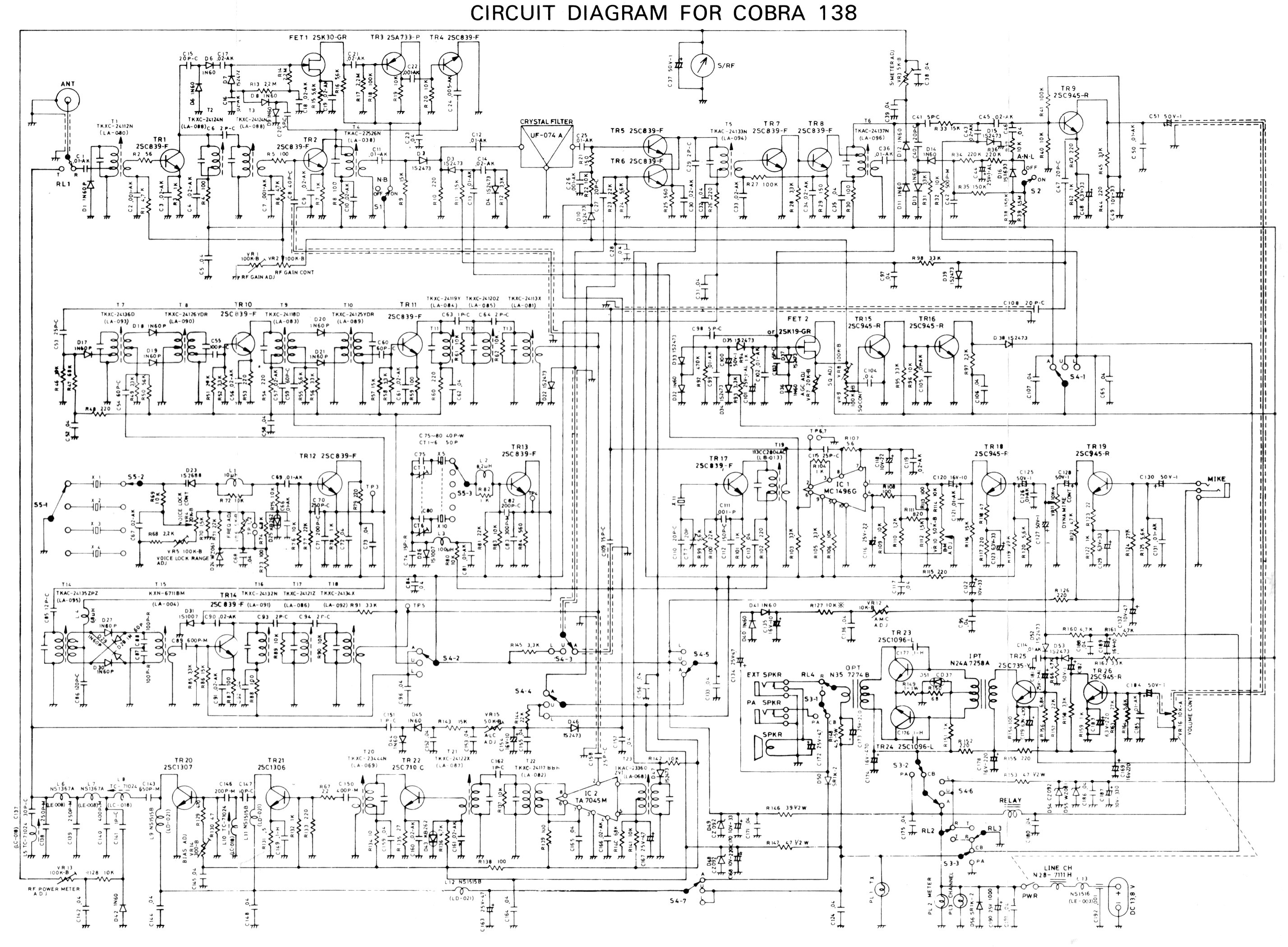 Super Star Cb Mic Wiring Diagram 5 Pin Services Microphone Cobra 138 Enthusiast Diagrams U2022 Rh Rasalibre Co 6