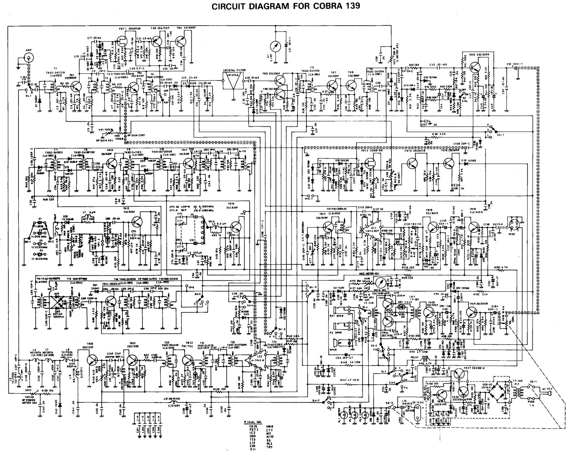 Cobra 139 Pc Microphone Wiring Diagram Schematic Technical Bulletin 197 Mic